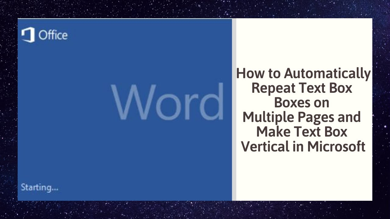 How To Automatically Repeat Text Box Boxes On Multiple Pages And Star 11 Keywords Ppt Powerpoint Drawing Diagrams Templates Make Vertical In Microsoft