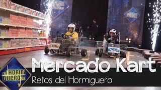 Fernando Alonso gana en la carrera de Mercado Karts contra Pablo Motos - El Hormiguero 3.0