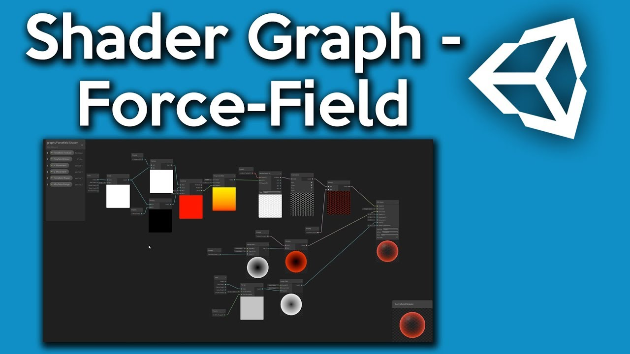Unity Shader Graph - How to make a Force-field Shader