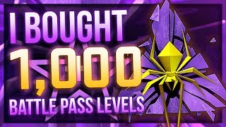 I BOUGHT 1000 BATTLE PASS LEVELS (BIG PROFIT?!)