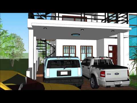 Modern house with roof deck youtube for Modern house design with roof deck