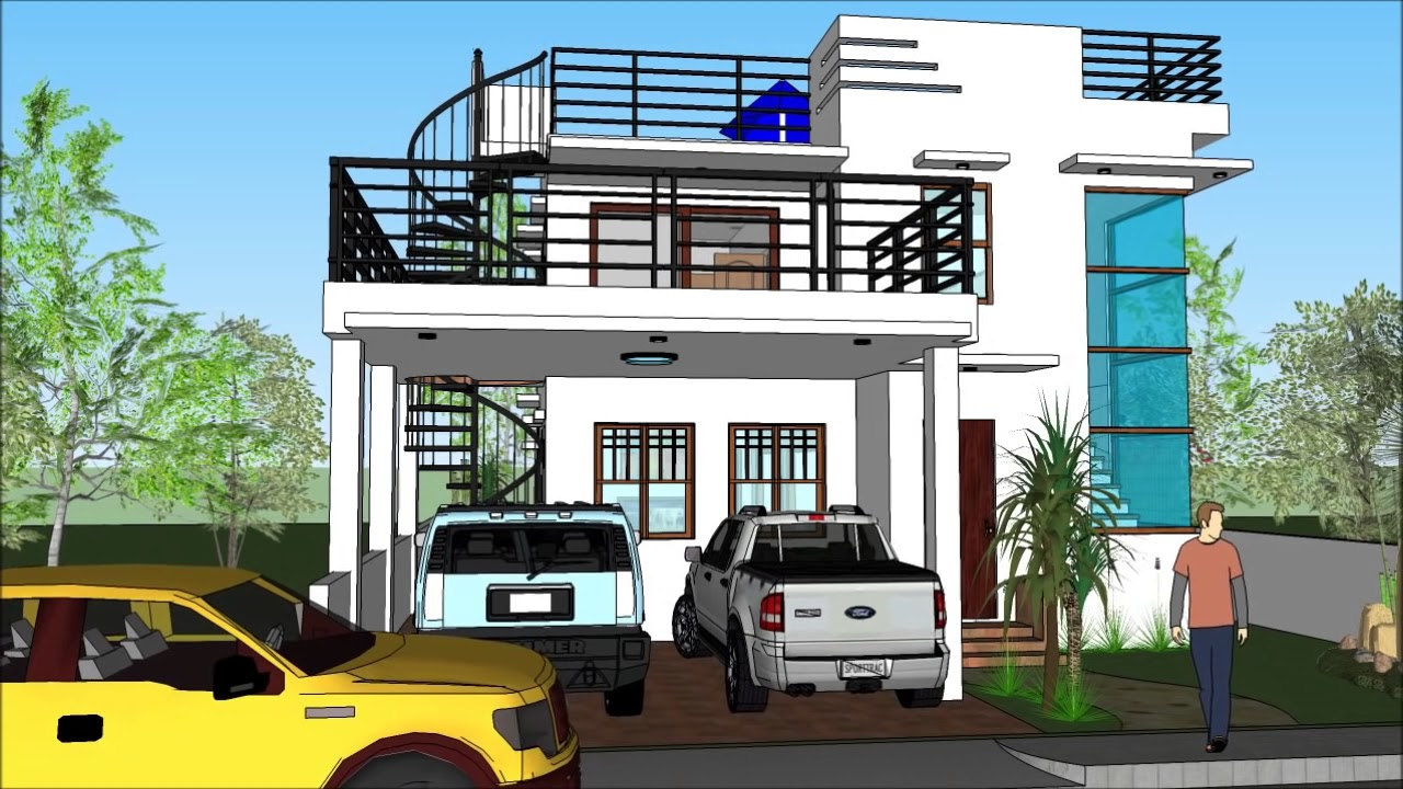 Modern House With Roof Deck Youtube