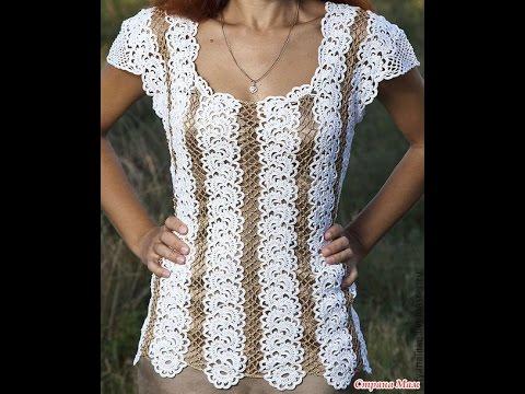 Crochet Patterns For Free Crochet Blouse 1866 Youtube