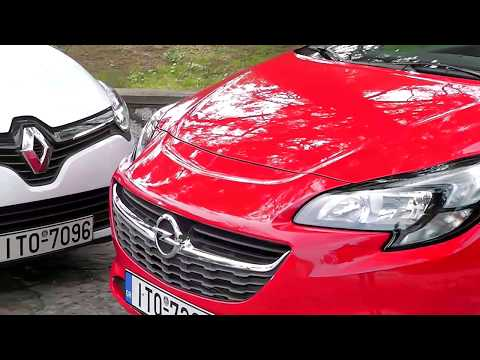 Opel Corsa vs Renault Clio - Head to head (2017) Review - Test drives