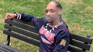 Snoop Dogg Smokes Blunt Out Front Of White House