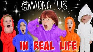 AMONG US but IN REAL LIFE! (Impostor IQ 999) Impostor kills Impostor