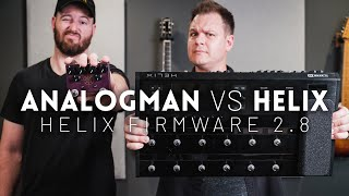 Line 6 Helix vs Analogman King of Tone - Can you tell the difference? // Helix firmware 2.8