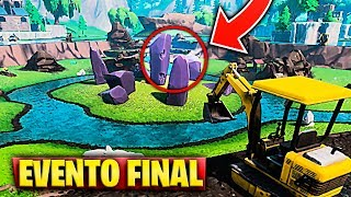 NEW FINAL EVENT WITH EXCAVATION IN BALSA BUTTON in FORTNITE (Les pierres secrètes du cube)