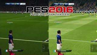 PES 2016 - PS4/XONE vs PS3/X360 - GAMEPLAY COMPARISON - Nova Geração vs Antiga Geração (1080p)