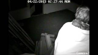 attempted break in 4 22 2013 caught on tape