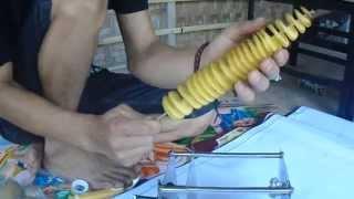 Cara membuat kentang spiral