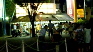 People practicing for Kumagaya's Uchiwa Matsuri, or Fan Festival. M...