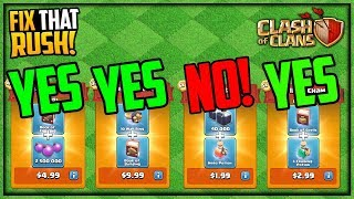 NOT ALL Packages are Worth it! Clash of Clans Fix That Rush Episode 62!