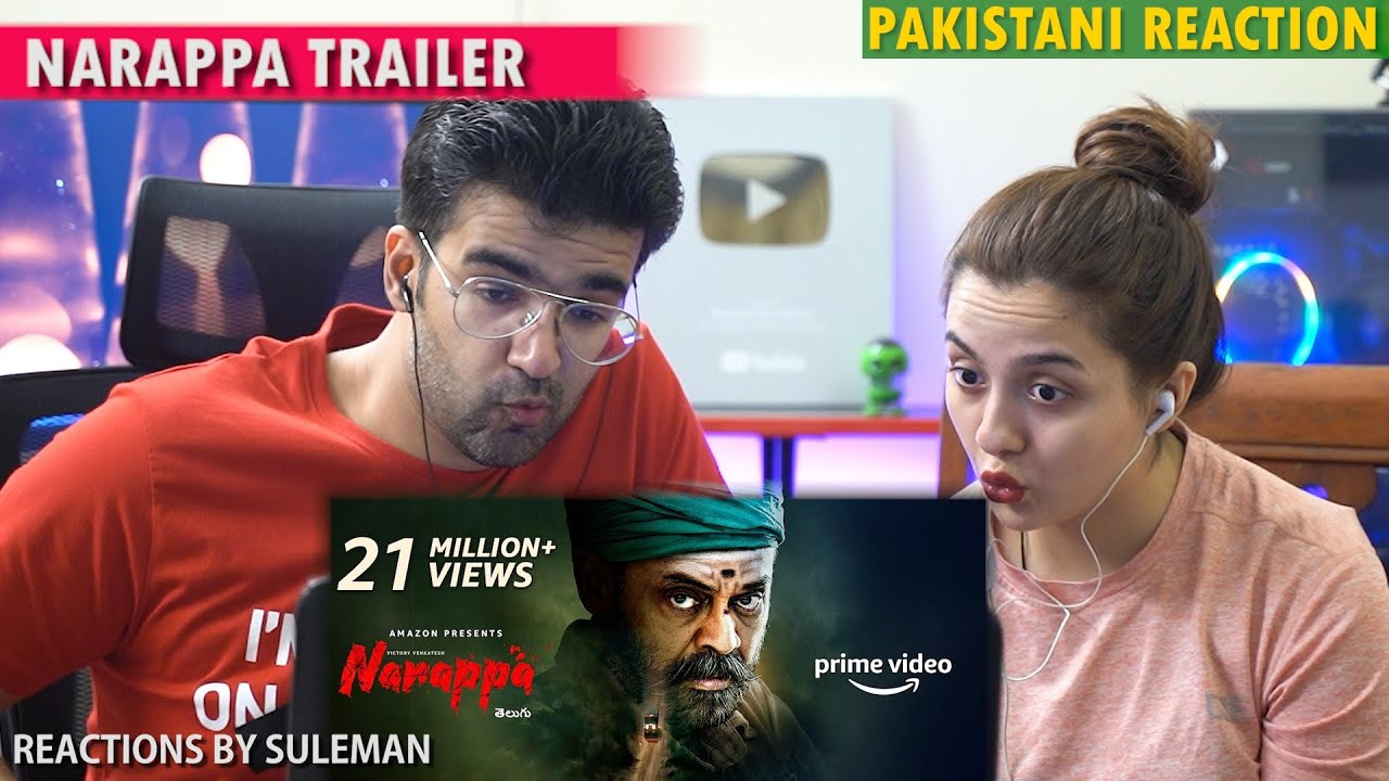 Pakistani Couple Reacts To Narappa Trailer | Venkatesh, Priyamani, Rao Ramesh,