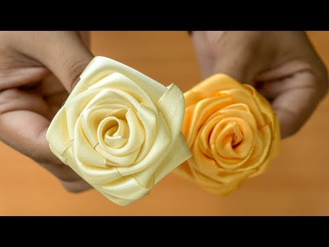 Realistic and Super Easy Ribbon Roses: Wedding DIY Flowers