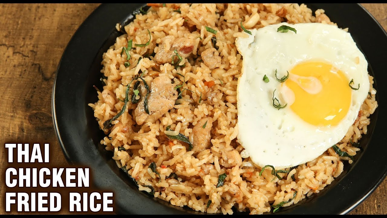 Thai Chicken Fried Rice Restaurant Thai Fried Rice Main Course Party Recipe Tarika Youtube