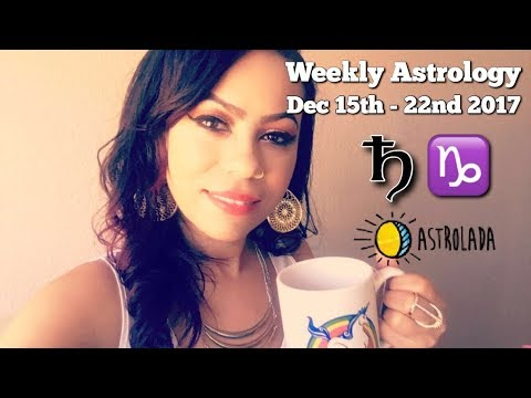 """Weekly Astrology Forecast for Dec 15th - 22nd & Celebrity """"Coffee Talk"""" W/Astrologer April!"""
