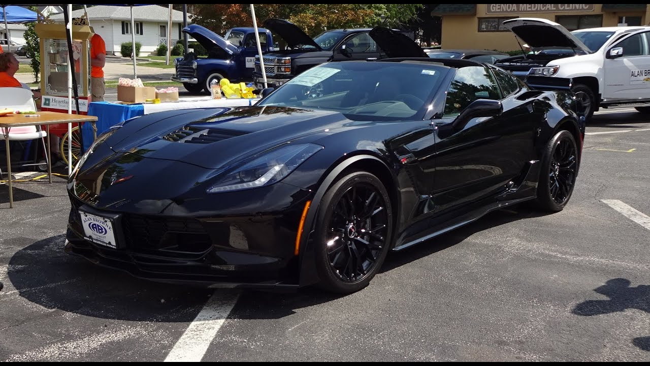 2015 chevrolet chevy corvette z06 z07 coupe in black start up on my car story with lou costabile youtube - Corvette 2015 Z06 Black