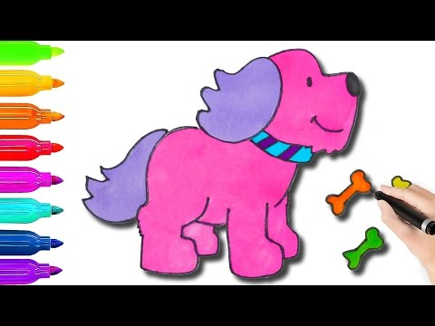How To Draw Cute Dog Amp Coloring Pages For Kids L Book Videos
