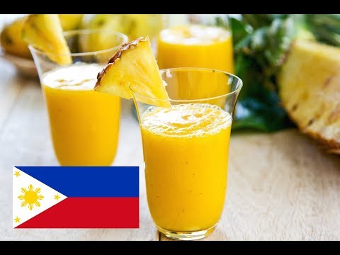 Tagalog - Pineapple Ginger Smoothie Drink Recipe