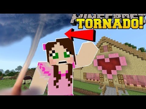 Thumbnail: Minecraft: TORNADOES!! (TORNADOES, EARTHQUAKES, & BLIZZARDS!) Custom Command