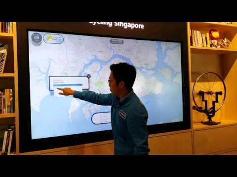 Shimano Cycling Singapore | Interactive App Demonstration