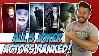 All 5 Joker Actors Ranked!