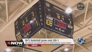 Girls' basketball games ends 108-1