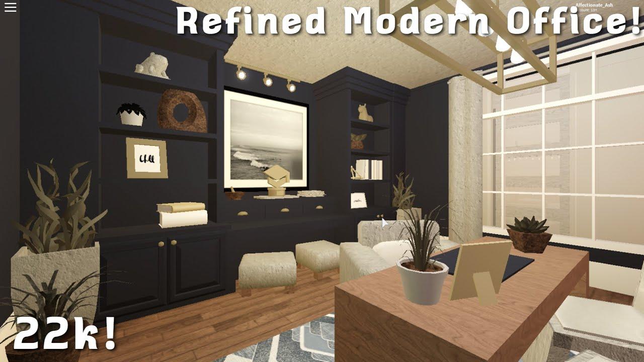 Roblox Bloxburg Refined Modern Office Speedbuild 22k Affectionate Ash Youtube