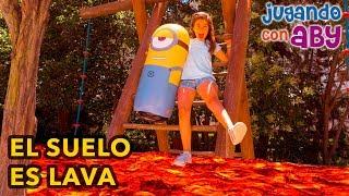 EL SUELO ES LAVA. Jugamos con un MINION GIGANTE. The floor is lava thumbnail