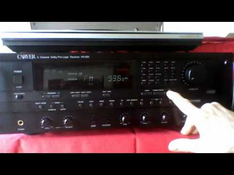 the carver stereo hr 895 prologic receiver december 12 2011 10 36 rh youtube com carver hr-895 service manual Carver Amplifier