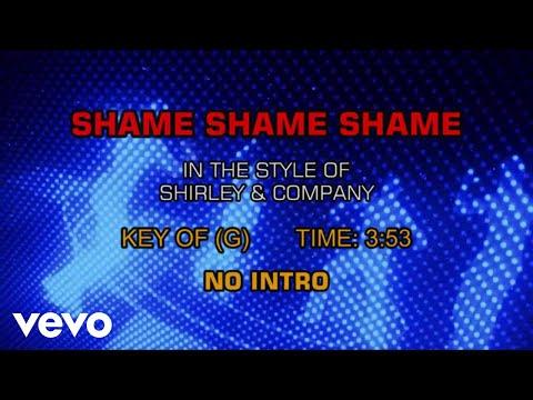 Shirley & Company - Shame, Shame, Shame (Karaoke)