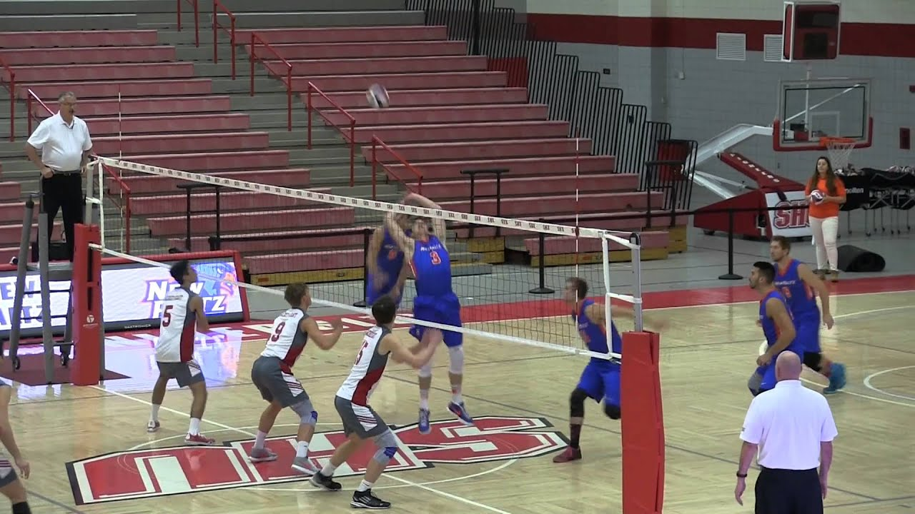 New Paltz Men's Volleyball at Sacred Heart (1/27/16) - YouTube