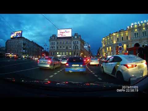 Saint Petersburg by night / Вечерний Санкт-Петербург (Driving)
