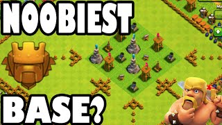 "Clash of Clans - WE DID IT! ""NOOBIEST TITAN BASE IN THE WORLD?!"" 3 STARRING MAXED BASE IN TITANS!"