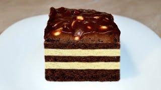Торт СНИКЕРС в домашних условиях пошаговый рецепт