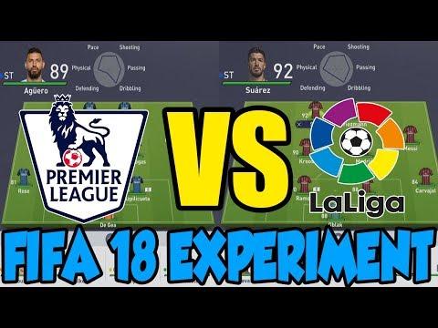 The premier league vs the la liga - fifa 18 experiment