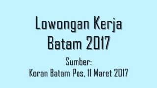 Kerjabatam.com Lowongan Kerja Cladtek Batam 2017