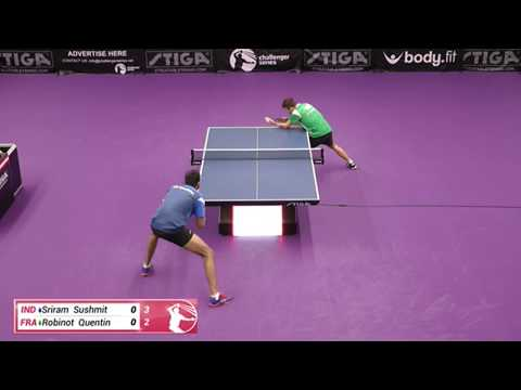 Sushmit Sriram Vs Quentin Robinot (Challenger Series October 3rd 2019 Group Match)