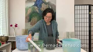Crystal Sound Meditation by Bernadette Yao with Alchemy Crystal Singing Bowls