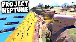 INCREDIBLE D-DAY MAP! Project Neptune Invasion of Normandy! (Ravenfield Best Mods Gameplay)