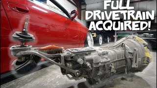 NEW NISSAN TRANSMISSION FOR MY TOYOTA POWERED MAZDA!! thumbnail
