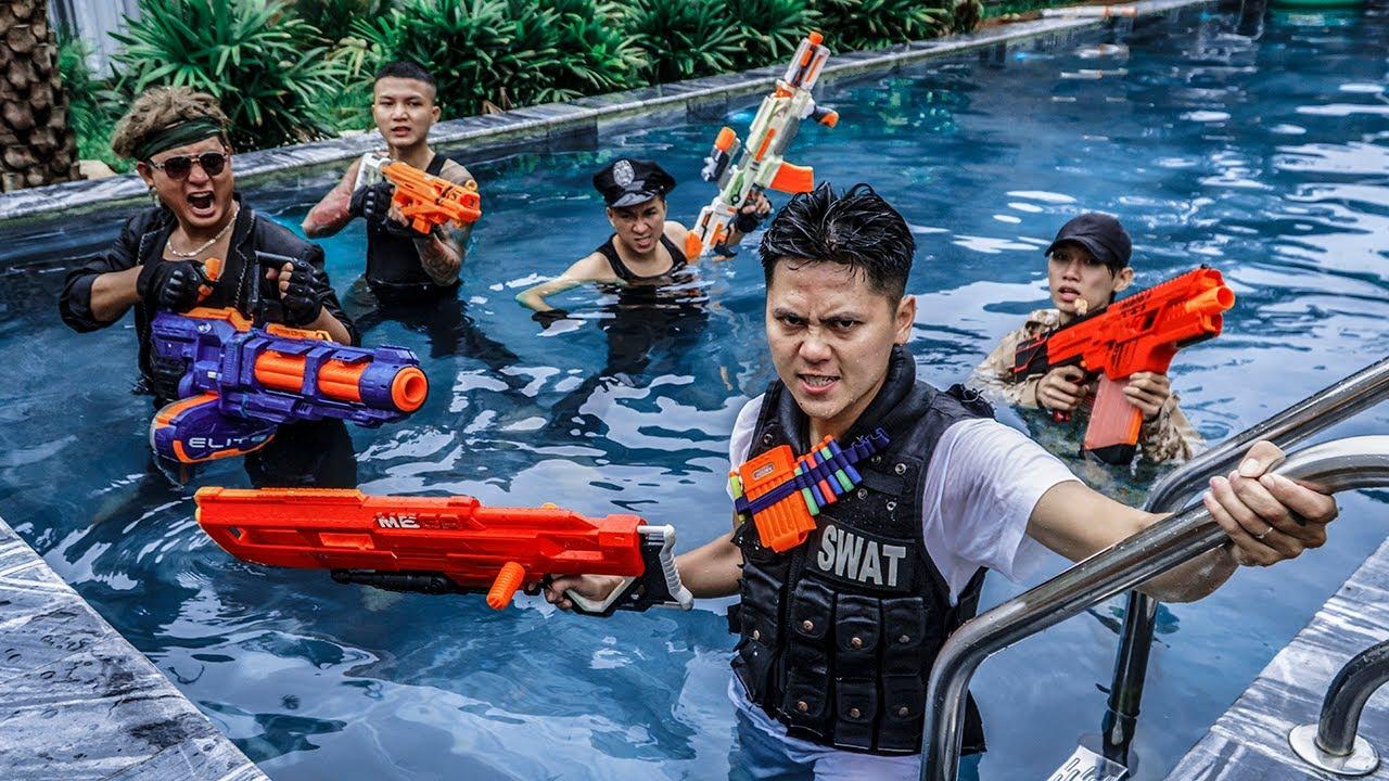 LTT Game Nerf War : Warriors SEAL X Nerf Guns Fight Rocket Crazy Mortal Kombat SWAT & Crime