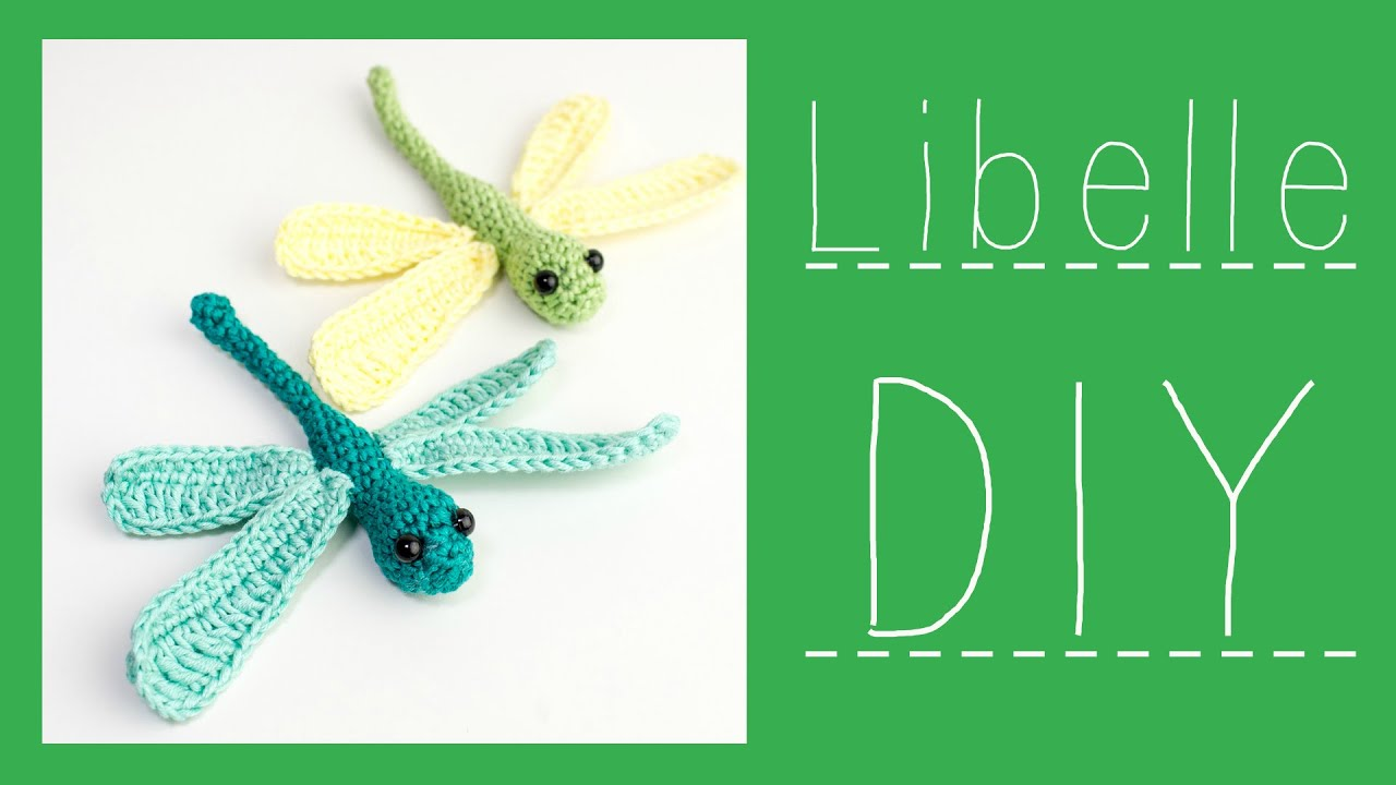 Libelle Häkeln Do It Yourself Amigurumi Kleine Waldbewohner