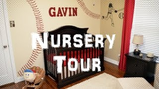 Nursery Tour - Vintage Baseball Boy Nursery