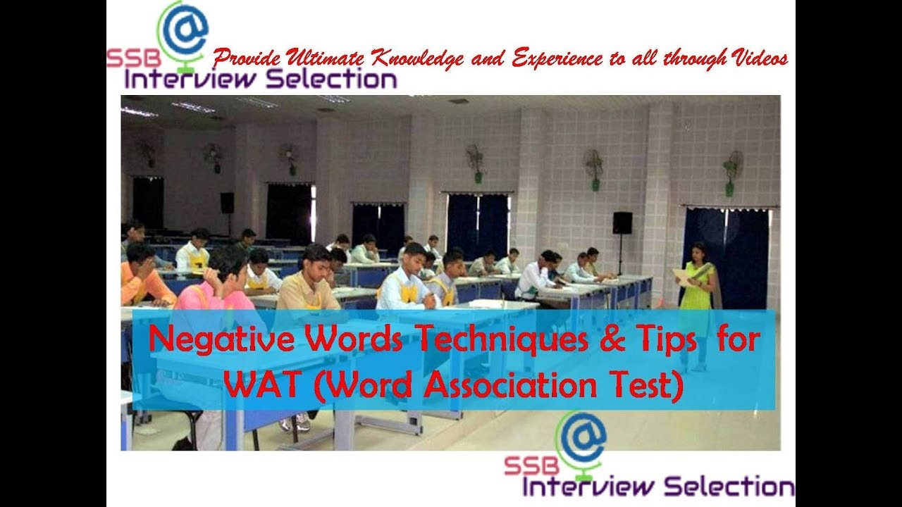 Word Association Test Ssb Pdf