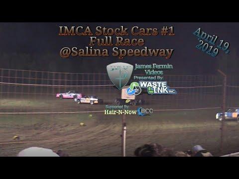 (IMCA) Stock Cars #1, Full Race, Salina Speedway, 04/19/19
