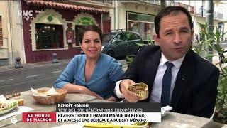 Béziers: Hamon mange un kebab et adresse une dédicace à Ménard - Les Grandes Gueules de RMC