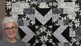 Black and Grey Christmas Quilt