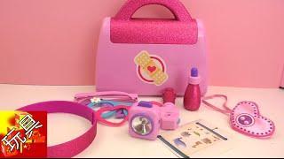 迪士尼  玩具小医生Doc McStuffins 麦芬小女孩  医疗套装  玩具组套装 组装 展示